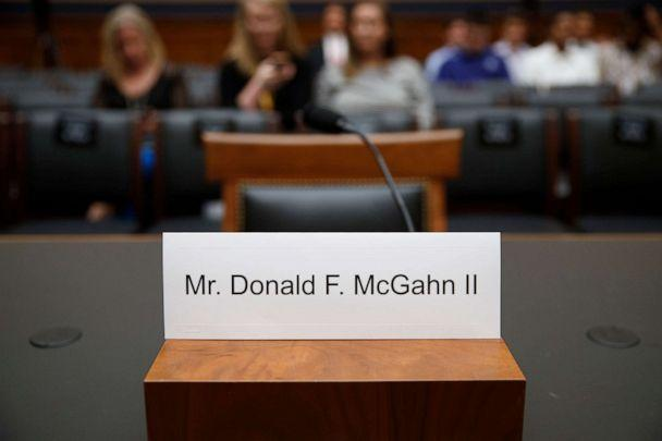 PHOTO: The empty chair of Former White House Counsel Donald F. McGahn II prior to the House Judiciary Committee on Capitol Hill in Washington, D.C., May 21, 2019. (Shawn Thew/EPA via Shutterstock)