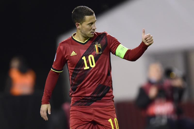 BRUSSELS, BELGIUM - NOVEMBER 19 : Eden Hazard midfielder of Belgium pictured during the Euro 2020 group I qualifying match Belgium against Cyprus on November 19, 2019 in Brussels, Belgium, 19/11/2019 ( Photo by Peter De Voecht / Photonews via Getty Images)