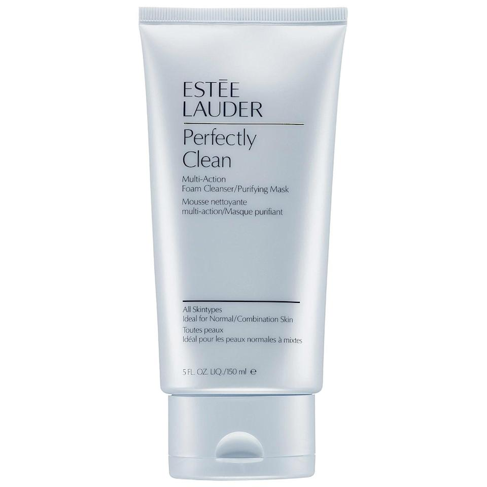 <p>Gently cleanse your face with the <span>Estée Lauder Perfectly Clean Multi-Action Foam Cleanser</span> ($27), or leave it on for three minutes for a purifying treatment that will keep acne at bay.</p>