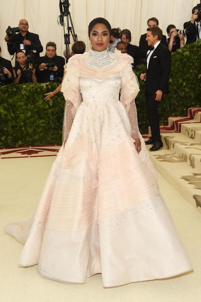 <p>Alicia Quarles in Christian Siriano. (Photo: Getty Images) </p>
