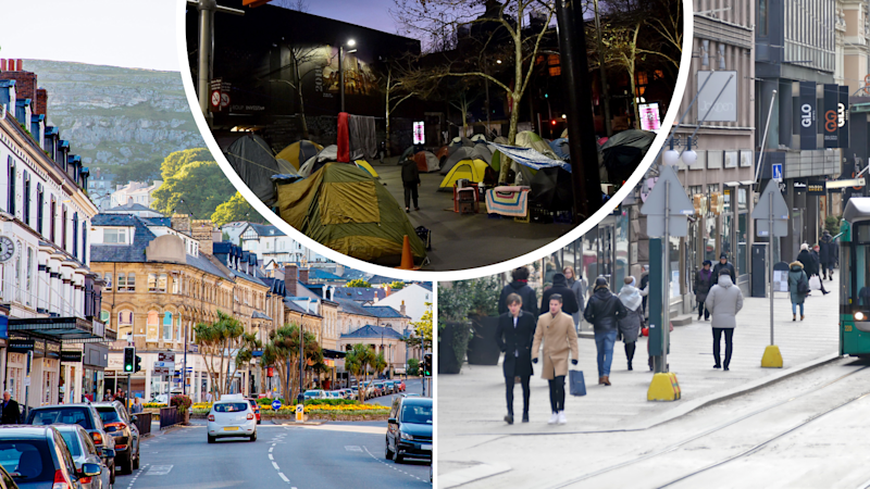 Pictured: Wales, Helsinki and homeless tents in Australia. Images: Getty