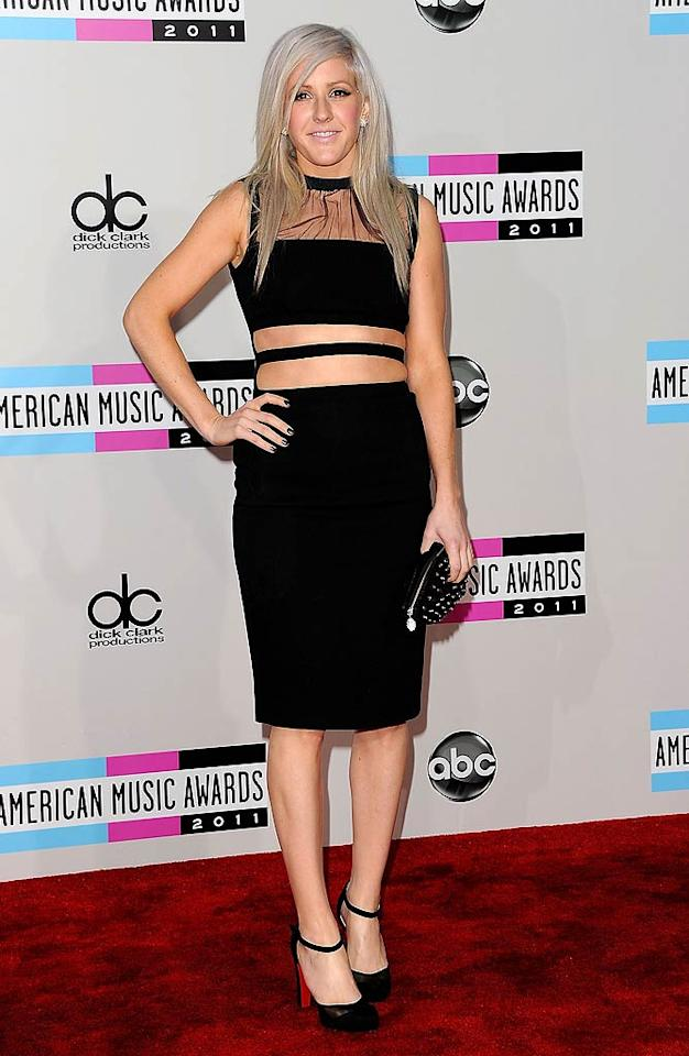 Singer Ellie Goulding arrives at the 2011 American Music Awards held at the Nokia Theatre L.A. LIVE. (11/20/2011)