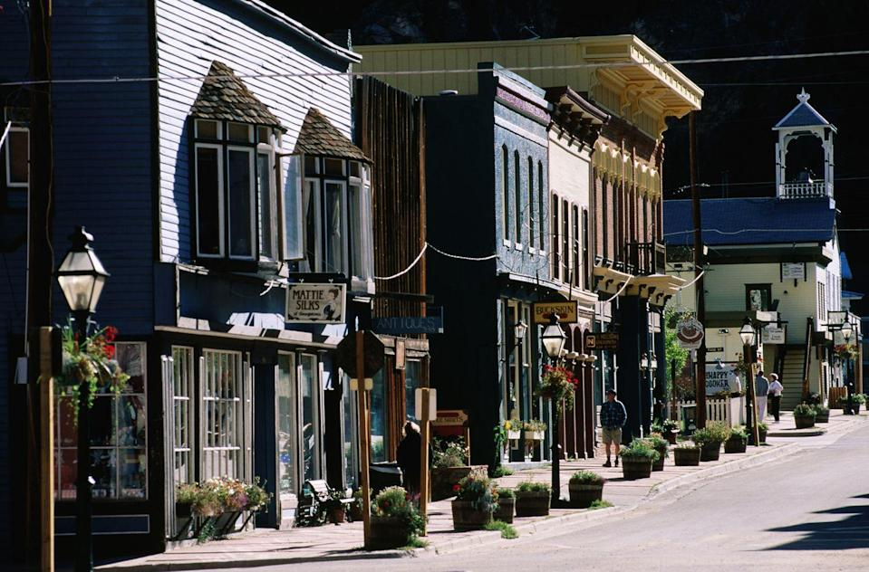"""<p>Nicknamed the """"Silver Queen of the Rockies,"""" Georgetown is filled with all of the sights that make a daytripper's heart skip a beat: galleries, cafes, fine restaurants, and lovely <a href=""""http://www.georgetowncolorado.com/shops.htm"""" rel=""""nofollow noopener"""" target=""""_blank"""" data-ylk=""""slk:antique shops"""" class=""""link rapid-noclick-resp"""">antique shops</a>. </p>"""