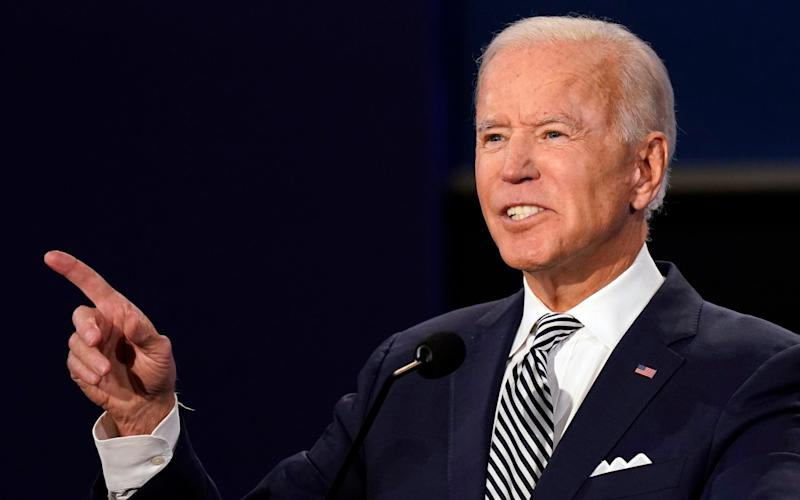 Democratic presidential candidate former Vice President Joe Biden speaks during the first presidential debate with President Donald Trump Tuesday, Sept. 29, 2020, at Case Western University and Cleveland Clinic, in Cleveland, Ohio - AP