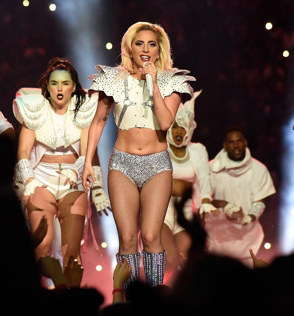 """<p>Lady Gaga gave the performance of her life during half-time at the Super Bowl, and yet trolls still criticised the star's body. </p><p>Gaga shared an inspirational, body-positive message to her fans on <a href=""""https://www.instagram.com/p/BQPMuhPlaBr/"""" rel=""""nofollow noopener"""" target=""""_blank"""" data-ylk=""""slk:Instagram"""" class=""""link rapid-noclick-resp"""">Instagram</a>.</p><p>'I heard my body is a topic of conversation so I wanted to say, I'm proud of my body and you should be proud of yours too,"""" Gaga wrote. </p><p>'No matter who you are or what you do. I could give you a million reasons why you don't need to cater to anyone or anything to succeed. </p><p>""""Be you, and be relentlessly you. That's the stuff of champions. thank you so much everyone for supporting me. I love you guys. Xoxo, gaga""""</p>"""