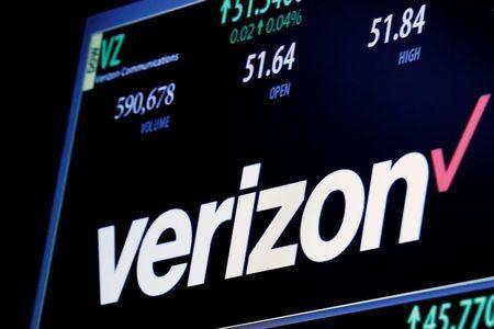 The ticker and trading information for Verizon is displayed on a screen at the post where it is traded on the floor of the New York Stock Exchange (NYSE) in New York City, U.S. June 9, 2016. REUTERS/Brendan McDermid