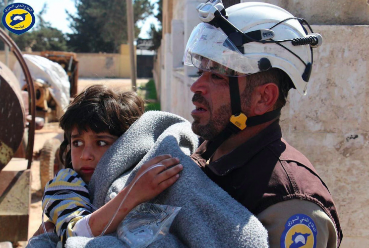 The chemical attack killed women, children and babies in Syria (Rex)