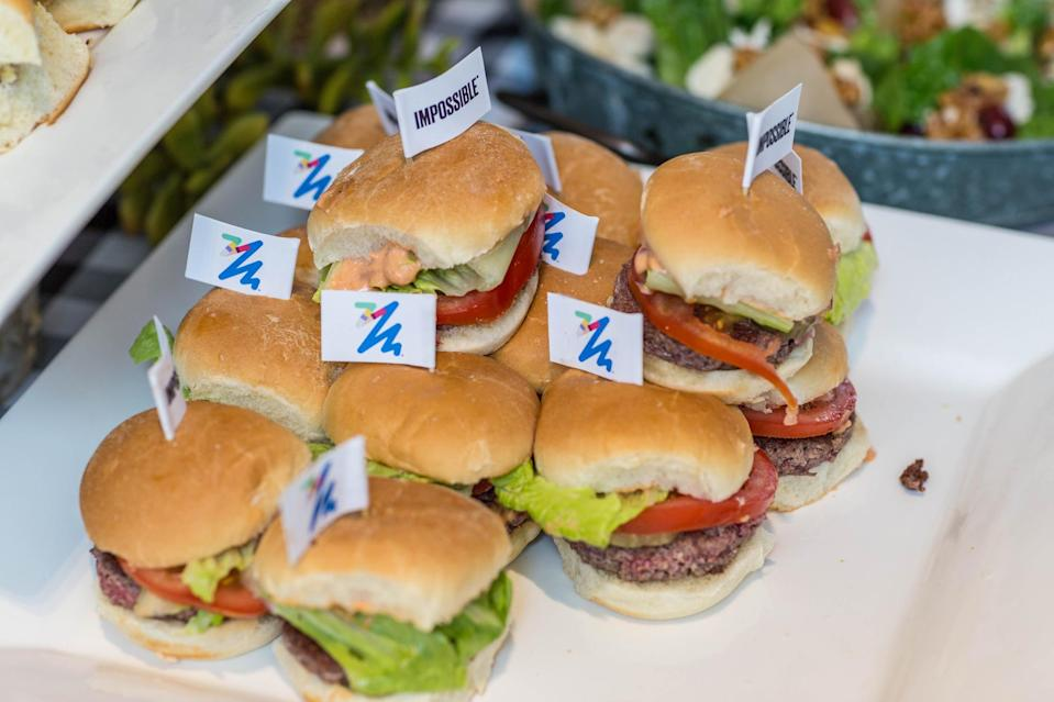 Impossible Foods' burgers are made of its signature plant meat.