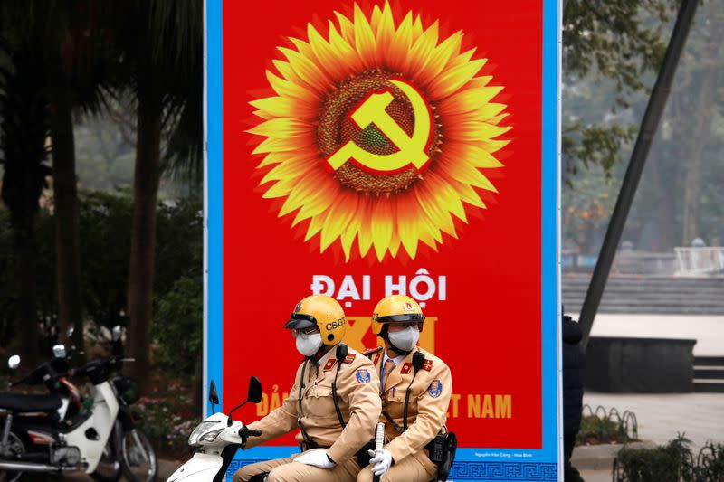 Vietnam tightens security ahead of the 13th national congress of the ruling communist party in Hanoi