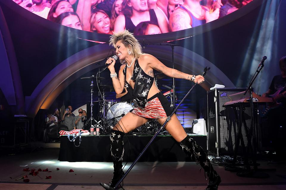 Resorts World Las Vegas Grand Opening Celebration At Ayu Dayclub With Miley Cyrus - Credit: Denise Truscello/Getty Images for Resorts World Las Vegas