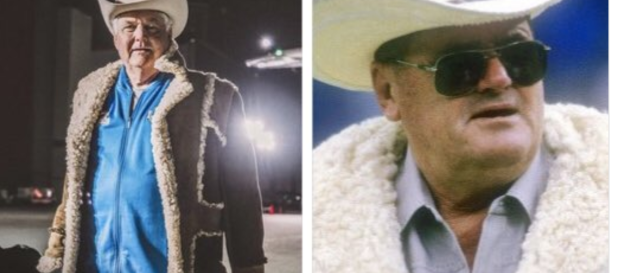 Wade Phillips, left, departed for Atlanta wearing the same coat his father, Bum Phillips, did decades earlier. (Getty Images)
