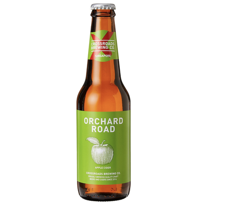 Crossroads Brewing Co. Orchard Road apple cider, 330ml, S$4.06. PHOTO: Amazon