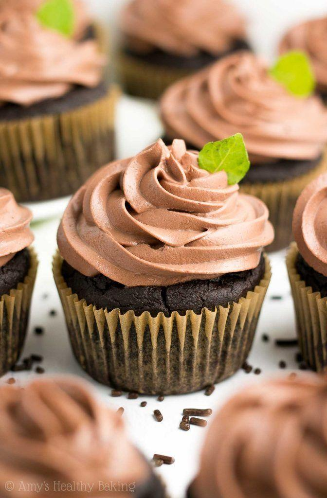 """<p>Bonus: These are made with a few healthy substitutes, so you won't feel bad about going in for seconds.</p><p>Get the recipe from <a href=""""https://amyshealthybaking.com/blog/2018/03/04/healthy-mint-chocolate-cupcakes/"""" rel=""""nofollow noopener"""" target=""""_blank"""" data-ylk=""""slk:Amy's Healthy Baking"""" class=""""link rapid-noclick-resp"""">Amy's Healthy Baking</a>.</p>"""