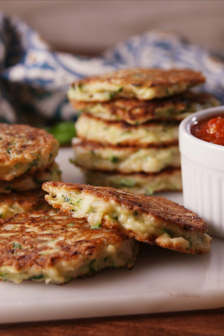 """<p>These fritters taste like summer!</p><p>Get the recipe from <a href=""""/cooking/recipe-ideas/recipes/a54809/parmesan-zucchini-fritters-recipe/"""" data-ylk=""""slk:Delish"""" class=""""link rapid-noclick-resp"""">Delish</a>.</p>"""