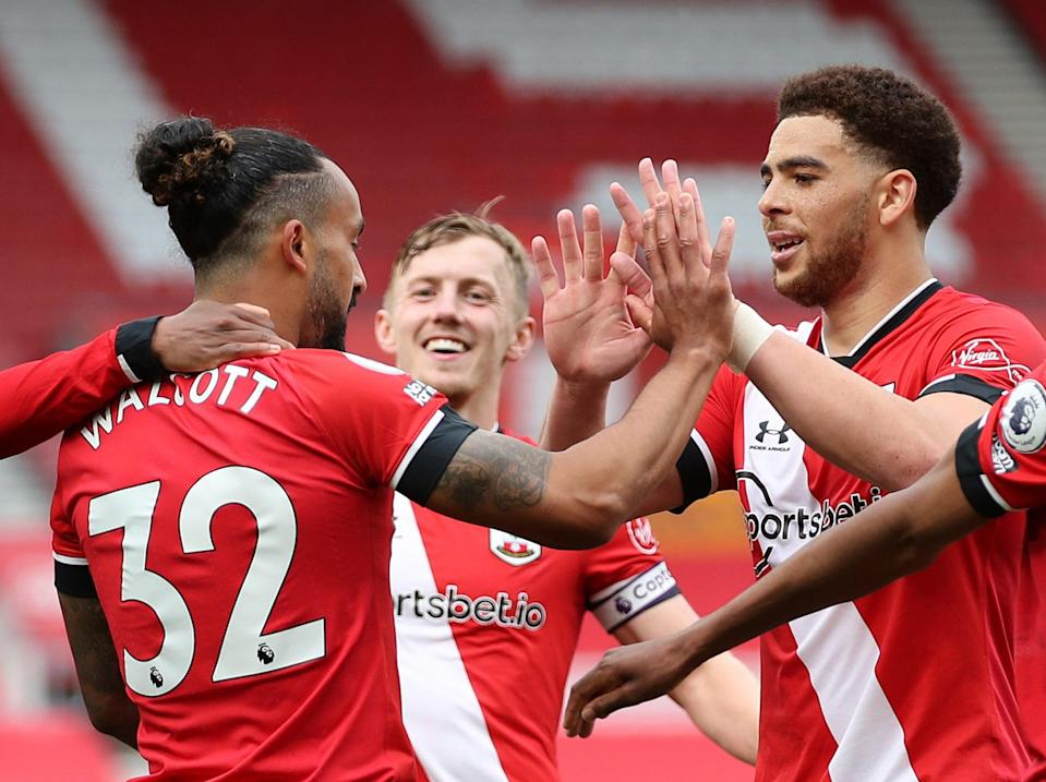 Southampton players celebrate during their win against Fulham (Getty Images)