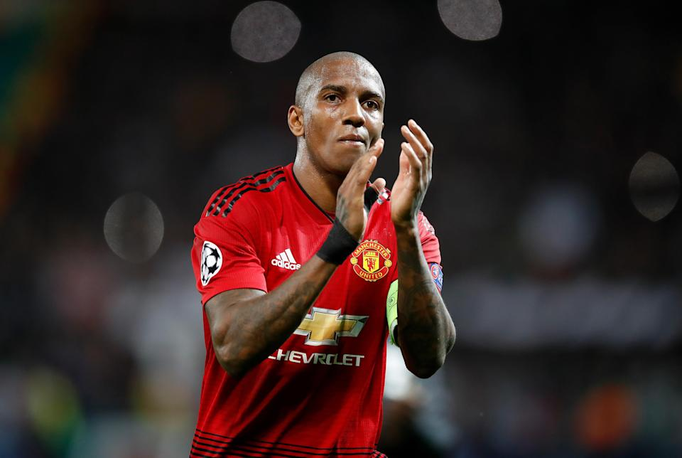 Manchester United's Ashley Young is reportedly in contract talks with the club (Martin Rickett/PA)