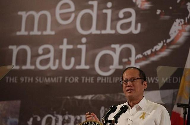 President Benigno S. Aquino III addresses the 9th MediaNation Summit of the News Media at the Ballroom 3, Lake Wing Section, Taal Vista Hotel in Tagaytay City on Friday (November 23, 2012). The summit has tackled major issues such as tension between commerce and ethics, the challenges of political reportage, conflict reporting, violence versus the media and other topics. After 9 years, the MediaNation Summit proposes to finally tackle head on the enormous, if often ignored the problem of corruption in the news media.