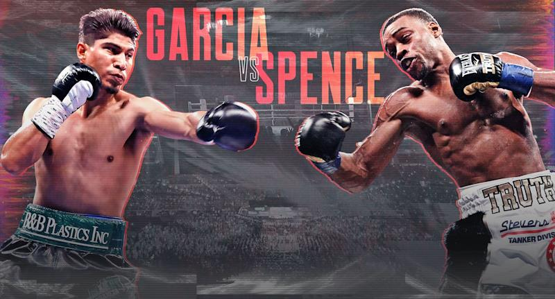 Mikey Garcia steps up two weight classes to challenge IBF welterweight champion Errol Spence Jr. on Saturday. (Amber Matsumoto/Yahoo Sports)