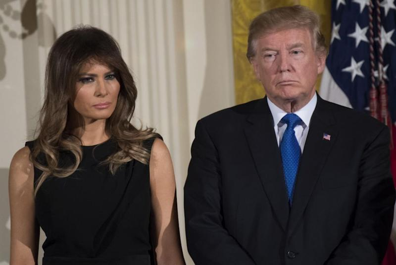 Melania's people have denied that she was shocked or unhappy by her husband's win. Photo: Getty