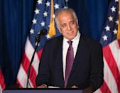 Former US ambassador to Afghanistan Zalmay Khalilzad has in recent months held meetings with Taliban officials in Qatar (AFP Photo/Brendan Smialowski)