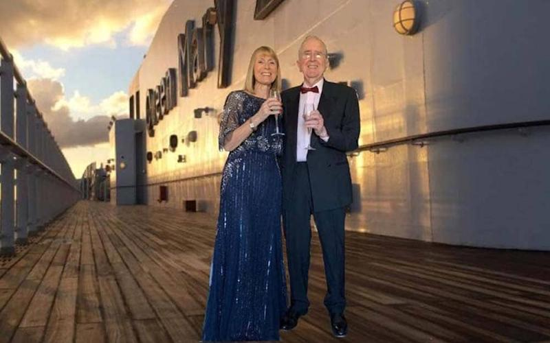 Barbara and Ed Higgins on the deck of Queen Mary 2 – though not all is as it seems - Alex Ozansoy
