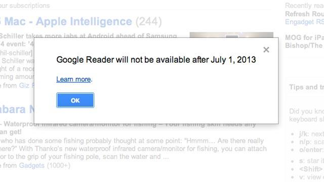 Prepare for the Google Reader Shut Down on Monday