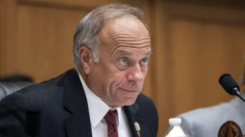 FILE - In this June 8, 2018, file photo, Rep. Steve King, R-Iowa, at a hearing on Capitol Hill in Washington. State Sen. Randy Feenstra, R-Hull, announced this week he'd seek the Republican nomination, facing the nine-term King. (AP Photo/J. Scott Applewhite, File)