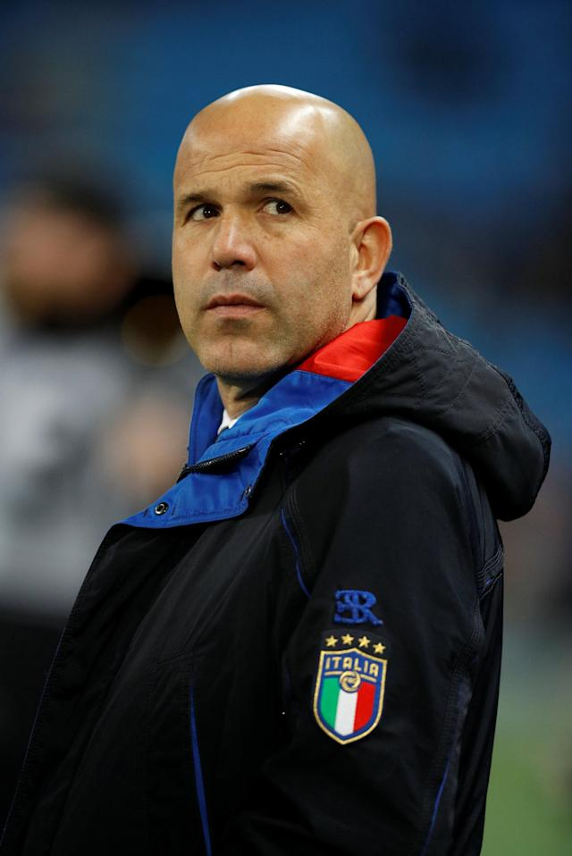 Soccer Football - International Friendly - Italy vs Argentina - Etihad Stadium, Manchester, Britain - March 23, 2018 Italy interim coach Luigi Di Biagio before the match REUTERS/Phil Noble