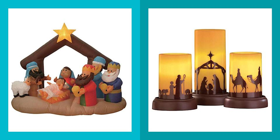 """<p>For those who celebrate <a href=""""https://www.womansday.com/christmas/"""" rel=""""nofollow noopener"""" target=""""_blank"""" data-ylk=""""slk:Christmas"""" class=""""link rapid-noclick-resp"""">Christmas</a>, the nativity scene holds a special significance, particularly during the holiday season. In the Christian tradition, the familiar manger scene depicts the birth of Jesus Christ. When paired with other <a href=""""http://www.womansday.com/home/decorating/g1015/christmas-table-decoration-ideas/"""" rel=""""nofollow noopener"""" target=""""_blank"""" data-ylk=""""slk:Christmas decorations"""" class=""""link rapid-noclick-resp"""">Christmas decorations</a>, a nativity set can serve as an important reminder for the whole family of <a href=""""https://www.womansday.com/life/inspirational-stories/g25439234/christmas-bible-verses/"""" rel=""""nofollow noopener"""" target=""""_blank"""" data-ylk=""""slk:what the holiday season is all about"""" class=""""link rapid-noclick-resp"""">what the holiday season is all about</a>. Nativity sets can also be a great way to teach the younger ones the story of Mary, Joseph, and baby Jesus in a visual way that they may understand better and hopefully, won't be able to break. </p><p>And your nativity scene doesn't have to be limited to a tiny set of figurines you display in the window. There are plenty of larger scenes that can serve as <a href=""""https://www.womansday.com/home/decorating/g34291455/outdoor-christmas-decorations/"""" rel=""""nofollow noopener"""" target=""""_blank"""" data-ylk=""""slk:outdoor lawn decorations"""" class=""""link rapid-noclick-resp"""">outdoor lawn decorations</a>, or ones that use different materials such as banana fibers, glass, metal or the traditional olive wood. At the end of the day, there's no wrong way to depict the nativity scene over the holidays, and there are tons of gorgeous (and affordable) ways to do so. Whether you're looking for a decorative piece that's traditional, modern, fragile, or perfect for educating your kids, these uniquely beautiful nativity sets can help you remember <a href=""""https://w"""