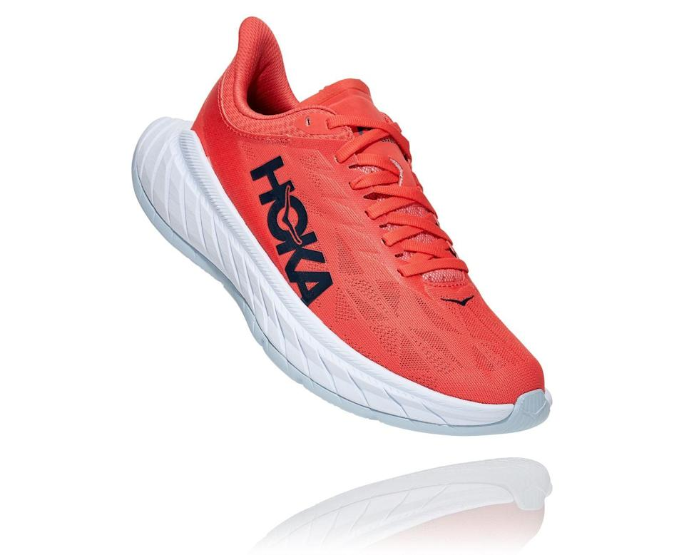 "<p>""As I've been adding more miles to my runs, I was excited to try out a sample of <span>Hoka Carbon X 2</span> ($180). At first, I was a bit intimated by the design, which features an extended foot sole. They looked too funky to be running shoes! However, after taking them on runs, I was impressed by how lightweight and stable they felt and smooth they made my run."" - Genevieve Farrell Roston, fitness and wellness director</p>"