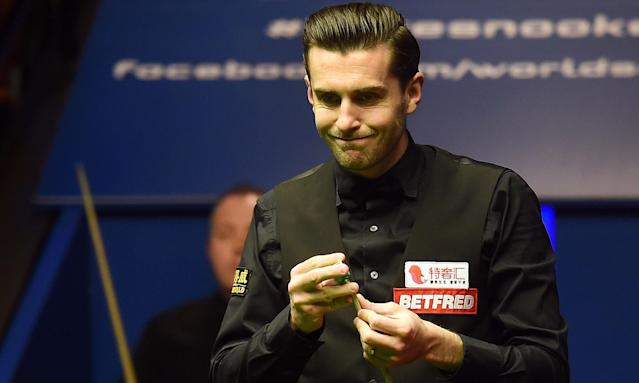 Mark Selby the thin-lipped spectre gives John Higgins a fright in world final
