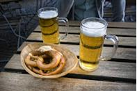 <p>Apparently North Dakota is a place where Oktoberfest celebrations go to die. In this state, beer and pretzels cannot legally be served at the same time in any bar or restaurant.</p>