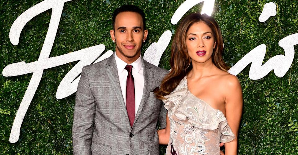 Hamilton and Scherzinger in 2014 (PA Images).