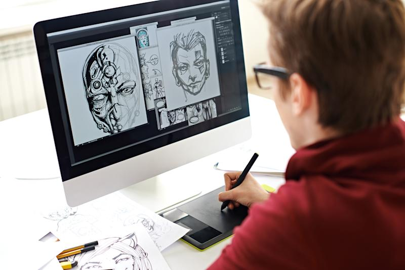 You don't need a college degree — or a ton of money — to flex your graphic design skills. (Photo: Getty Images)