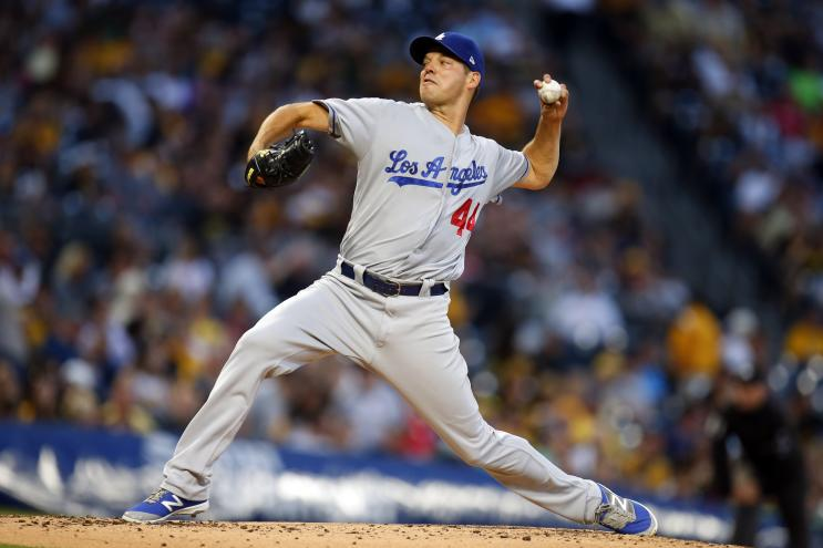 Rich Hill Dodgers lost a no-hitter and the game in the 10th inning. (Getty Images)