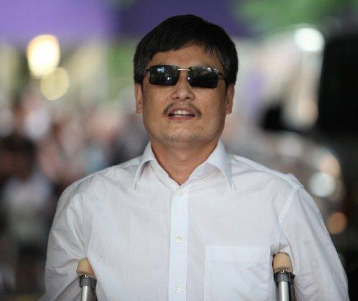 """Chen Guangcheng, a self-taught lawyer who exposed abuses in China's """"one-child"""" population policy, arrived in the United States on Saturday after last month escaping unlawful house arrest and taking refuge at the US embassy in Beijing"""