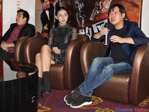 (L-R) Henry Thia, Venice Min and Michael Chuah at the press conference for their new movie.