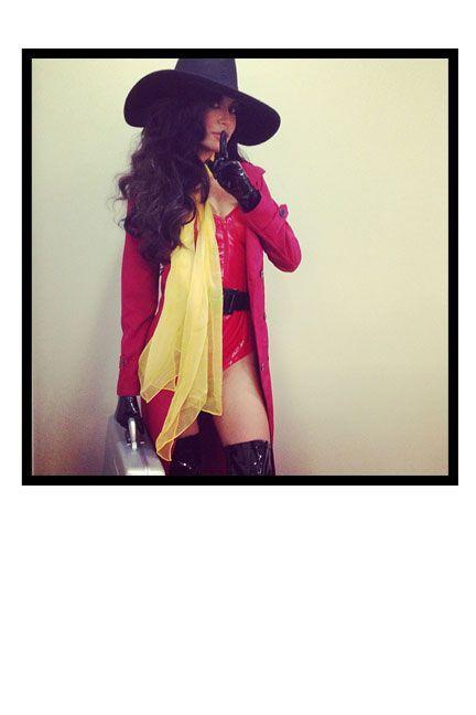<p>As Carmen Sandiego for a Halloween party in L.A. ‬</p>