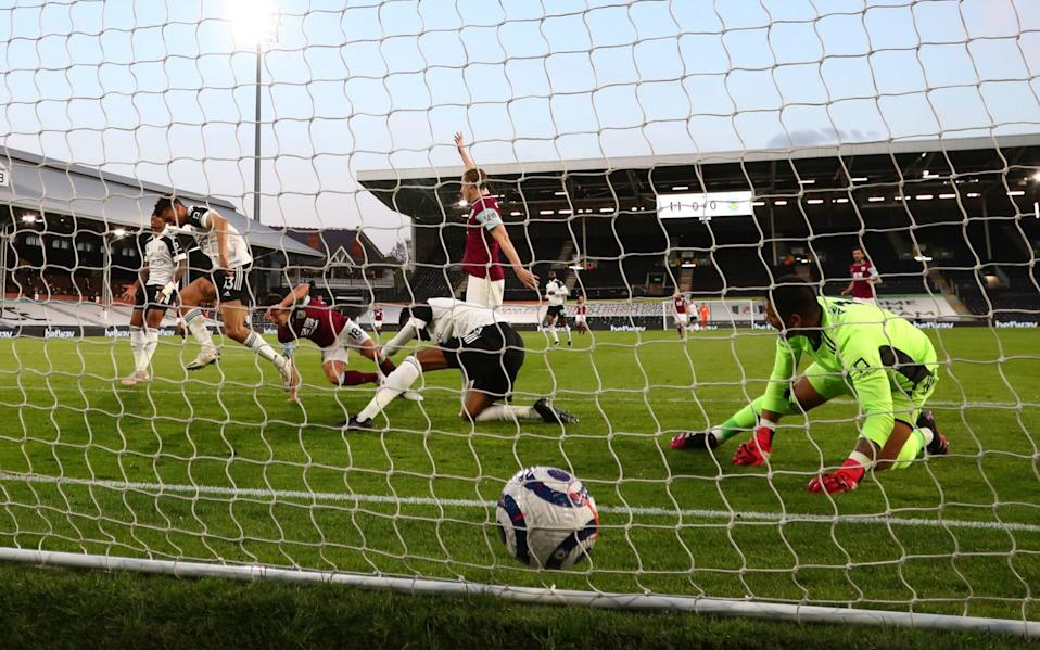 Burnley's Ashley Westwood scores the opener for Burnley - PA