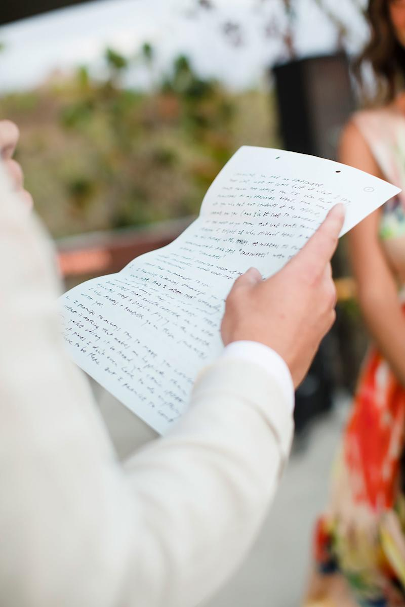 We wrote our own vows.