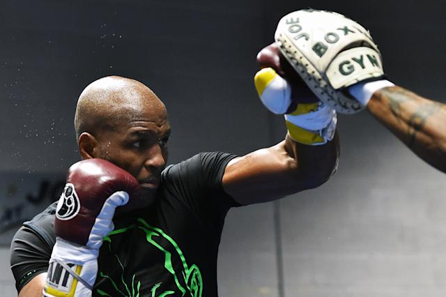 Bernard Hopkins trains in 2014. (Photo by Drew Hallowell/Getty Images)