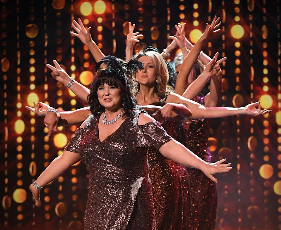 Eight celeb women took to the stage… but for a price. (REX)