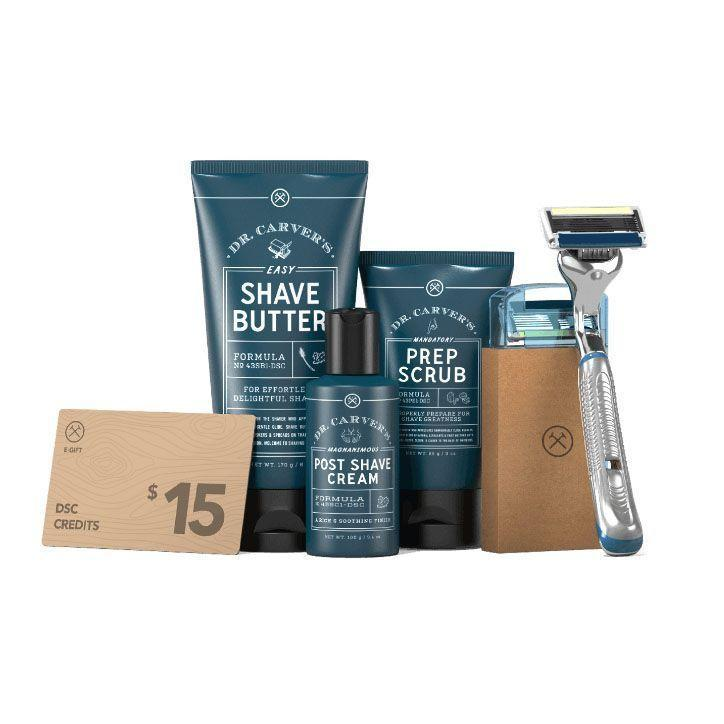 """<p><strong> Dollar Shave </strong></p><p>dollarshaveclub.com</p><p><strong>$50.00</strong></p><p><a href=""""https://go.redirectingat.com?id=74968X1596630&url=https%3A%2F%2Fwww.dollarshaveclub.com%2Fgift%2Fsets%2Fcomplete-shave-gift-set&sref=https%3A%2F%2Fwww.womansday.com%2Frelationships%2Ffamily-friends%2Fg27498054%2Fgifts-for-first-time-dads%2F"""" rel=""""nofollow noopener"""" target=""""_blank"""" data-ylk=""""slk:Shop Now"""" class=""""link rapid-noclick-resp"""">Shop Now</a></p><p>Give a new dad one less thing to worry about with a self-care starter kit from the Dollar Shave Club. It features a pre-shave exfoliating scrub, shave butter, hydrating post-shave cream, executive razor handle, and four razor cartridges in addition to a gift card to put toward monthly deliveries when he signs up.</p>"""