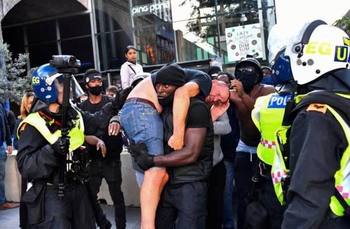 FILE PHOTO: Black Lives Matter protest in London