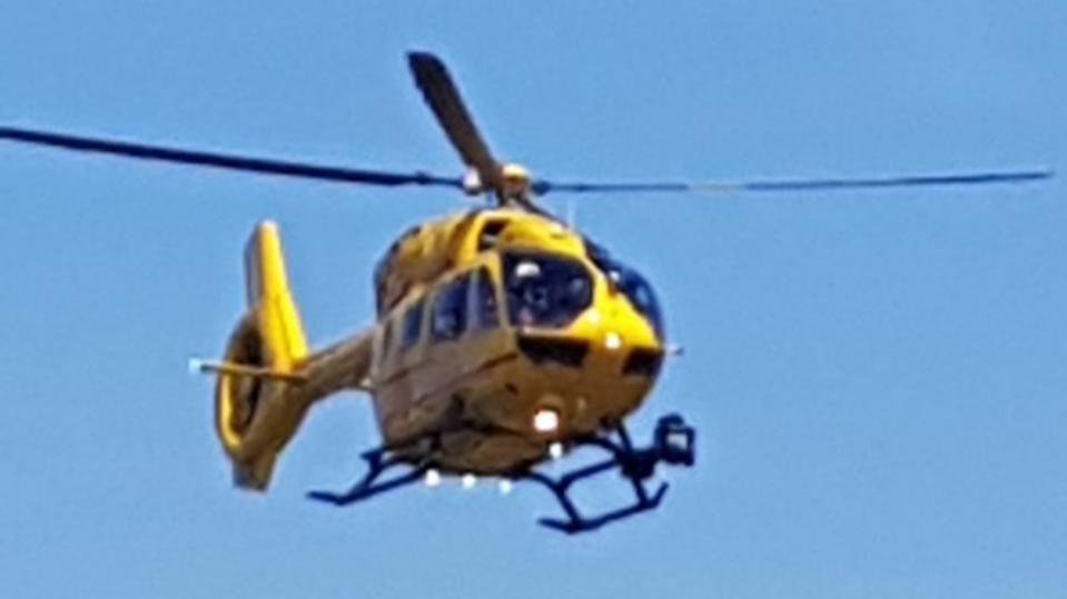Essex and Hearts Air Ambulance fly into the emergency situation (DANIEL KINGHAM)