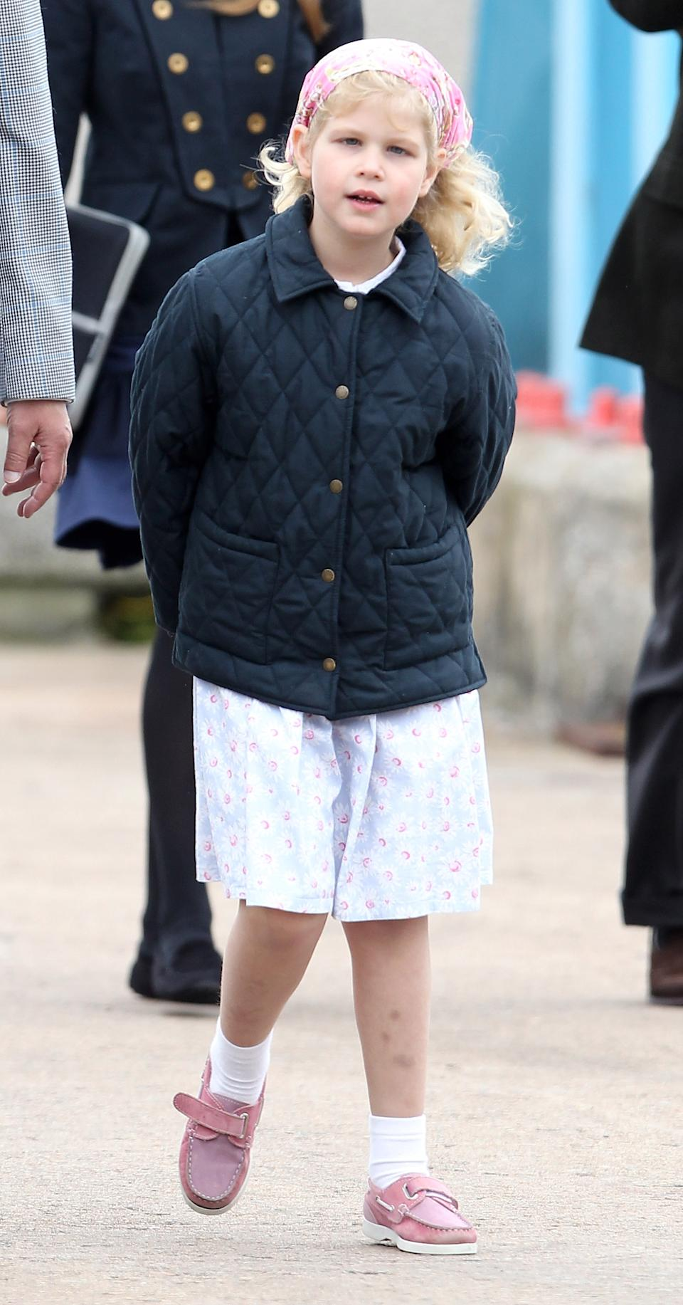 Lady Louise Windsor in 2010, a few months before her seventh birthday. (Getty Images)