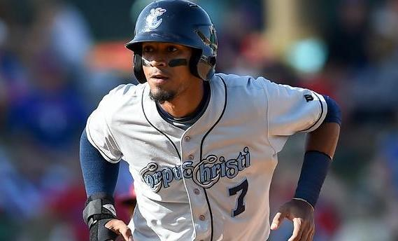 Danry Vasquez was arrested on Aug. 4 before being suspended and released on Wednesday. (Corpus Christi Hooks)