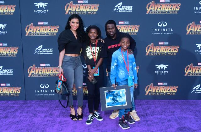 "<p>Kevin Hart brought his family — minus baby Kenzo. The actor said his family ""<a href=""https://www.instagram.com/p/Bh9dNVPAQIA/?hl=en&taken-by=kevinhart4real"" rel=""nofollow noopener"" target=""_blank"" data-ylk=""slk:had a ball"" class=""link rapid-noclick-resp"">had a ball</a>."" (Photo: Frederic J. Brown/AFP/Getty Images) </p>"