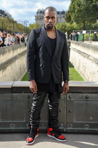 Kanye West arrives at the Christian Dior Spring / Summer 2013 show as part of Paris Fashion Week on September 28, 2012 in Paris, France -- Getty Images