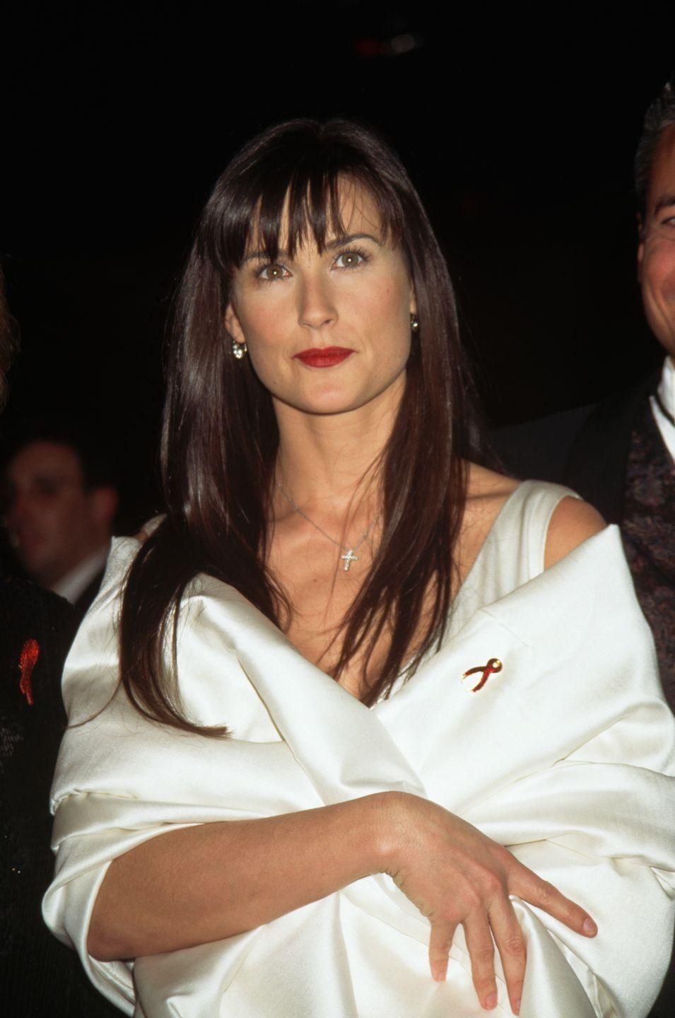 <p>After her role in films like <em>Ghost, </em>Demi Moore was one of the hottest young actresses in Hollywood and known for her striking hair. </p>